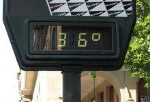Avís groc en la Comunitat per temperatures que podran superar els 36 graus