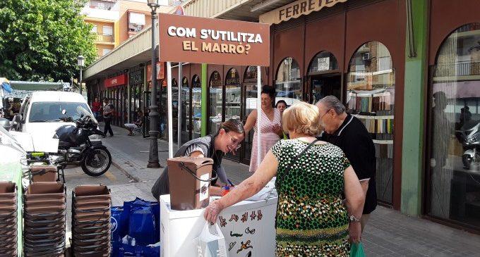 Campanya informativa als mercats pel bon ús del contenidor marró