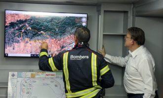 Dos incendis simultanis a la Comunitat Valenciana fan establir la Situació 1 del Pla Especial d'Incendis Forestals