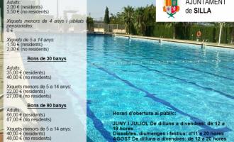 La Piscina Municipal de Silla obrirà tots els dies d'estiu amb un horari renovat