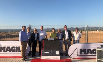 Conforama posa la primera pedra del centre logístic de Llíria
