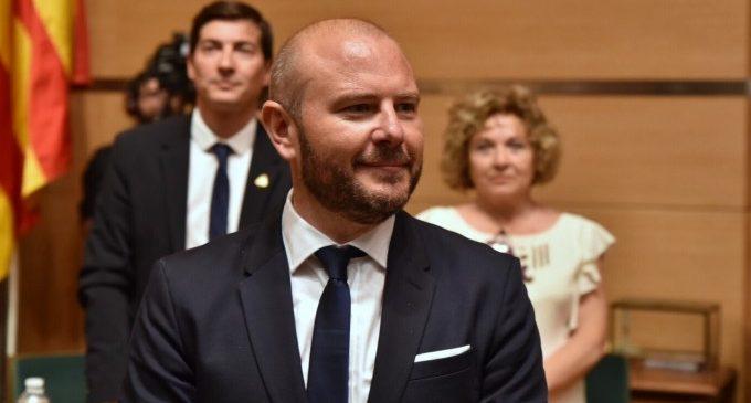 Gaspar, reelegido presidente de la Diputación de València con el respaldo de PSPV, Compromís y la Vall ens Uneix