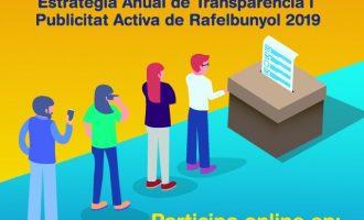 Rafelbunyol sotmet a consulta pública la seua estratègia de transparència