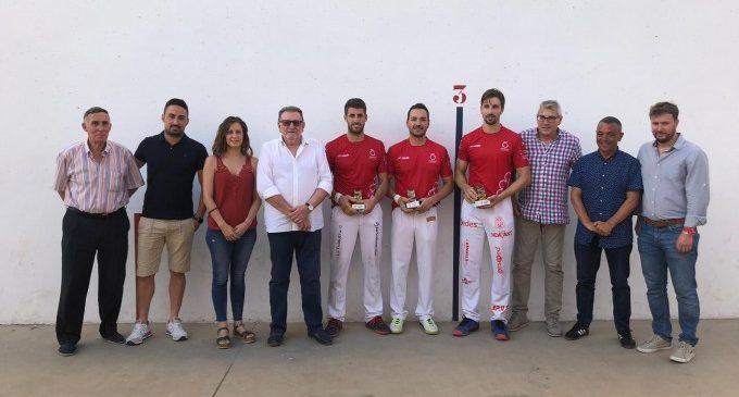 Puchol II, Raúl y Carlos, ganadores de pilota en el Trofeo Ciutat de Torrent