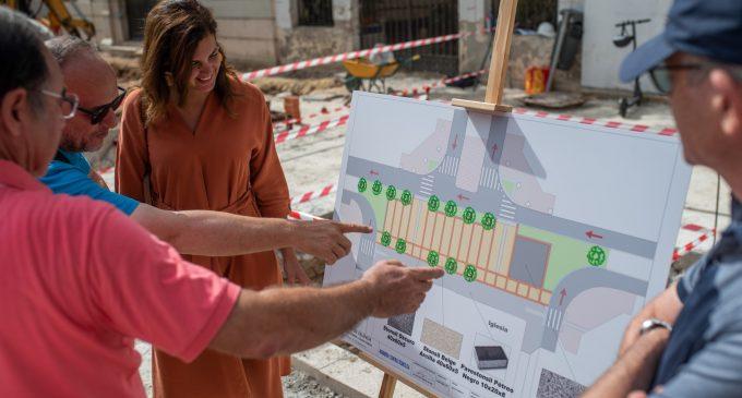 La conversió en zona de vianants de Sant Marcel·lí estarà llesta 'per a estrenar' en les festes del barri