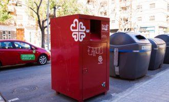 43 tones de roba i calçat recollits en els contenidors rojos de Mislata