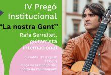 El músico xiriveller Rafael Serralet será el pregonero de las Fiestas de Xirivella 2019