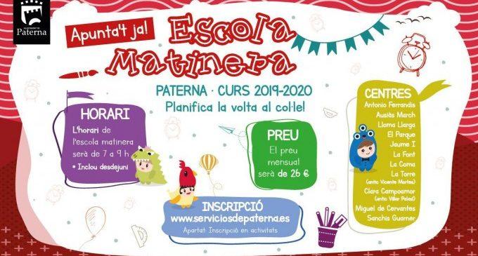 La Escola Matinera de Paterna abre el plazo para nuevas inscripciones