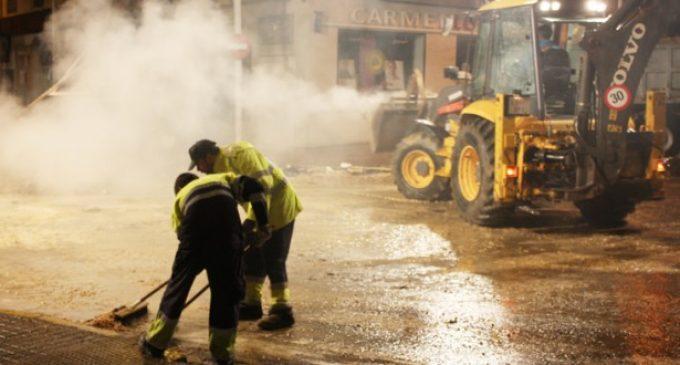 Los servicios de limpieza recogen 365 toneladas de residuos durante la Fira de Xàtiva