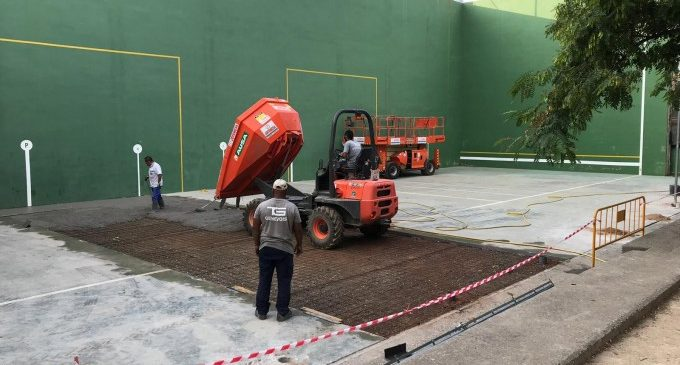 Massamagrell continua amb les obres en les instal·lacions del Poliesportiu Municipal