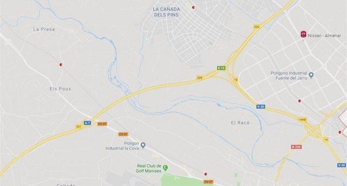 Un accident entre diversos vehicles causa 8 quilòmetres d'embós en l'A-7 a l'altura de Paterna