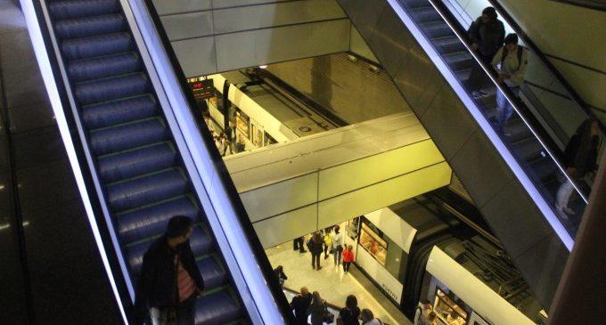Metrovalencia acaba la renovació de les escales mecàniques de Colón i substitueix els ascensors de Xàtiva