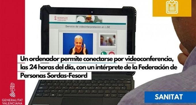 El Hospital de La Ribera estrena un sistema para que los sordos accedan a un intérprete por videoconferencia