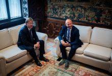 Puig aborda amb Gaspar el desenvolupament d'una Llei per al Fons de Cooperació Municipal