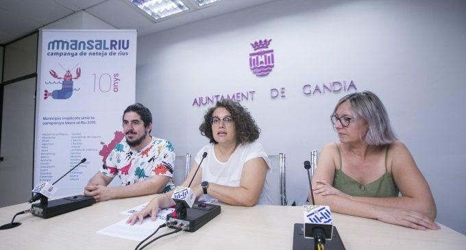 "Arriba a Gandia la campanya de voluntariat ambiental ""Mans al riu"""