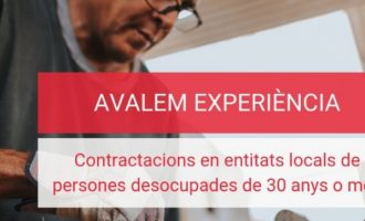 Un total de 500 corporacions locals valencianes contractaran a aturats a partir de 30 anys gràcies a Avalem Experiència