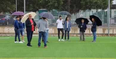 Los campos de futbol torrentinos del Parc Central estrenan lo último en césped artificial