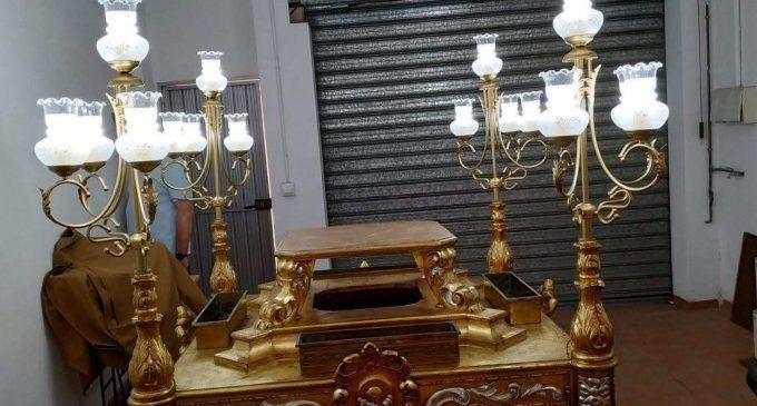 La Clavaria de San Miguel 2019 duu a terme la restauració de l'anda de la imatge de l'Arcàngel