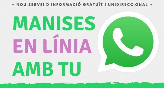 Manises obri un nou canal d'informació ciutadana per WhatsApp