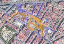 La futura red peatonal del Núcleo Histórico de Patraix conectará todos los alrededores de la plaza