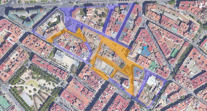 La futura xarxa per als vianants del Nucli Històric de Patraix connectarà tots els voltants de la plaça