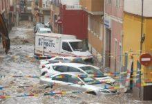 Les pluges cauen de forma torrencial a la Vega Baixa i en el sud de València amb fins a 65 litres en una hora