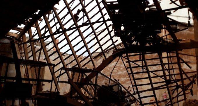 Col·lapsa el sostre d'una fàbrica d'Aldaia