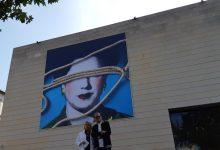"""Una """"poètica però guerrera"""" Carmen Calvo transforma la façana de l'IVAM en un crit per la igualtat de gènere"""