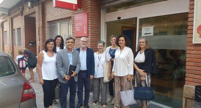 Miguel Chavarría, alcalde d'Alboraia, visita les obres realitzades per a la remodelació del Punt d'Atenció Continuada de Racó de Sant Llorenç