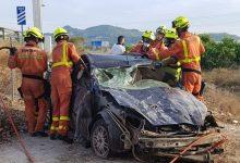 Herido un hombre tras salirse de la vía su coche en la A-7 a su paso por Beneixida