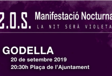 El pròxim divendres 20, manifestació nocturna feminista a les portes de l'Ajuntament