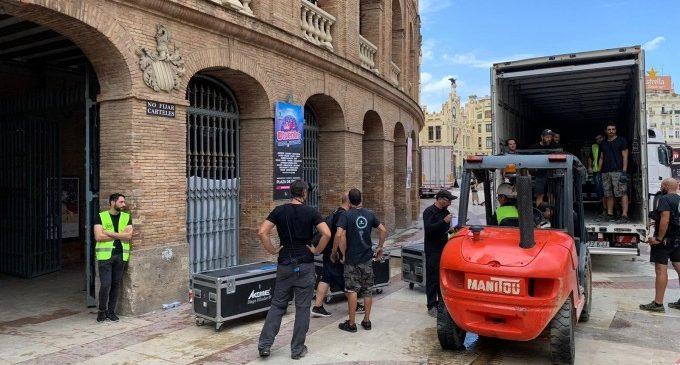 Las lluvias inundan la Plaza de Toros de València y obligan a cancelar el concierto 'Love the Tuenti's Valencia'