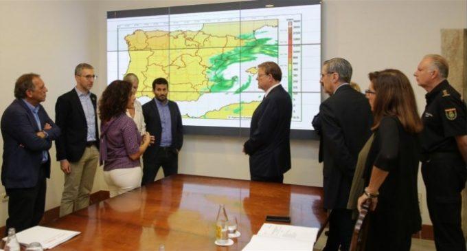 La Generalitat convoca al Cecopi per a coordinar mesures davant la DANA i adverteix de zones amb el risc d'inundació