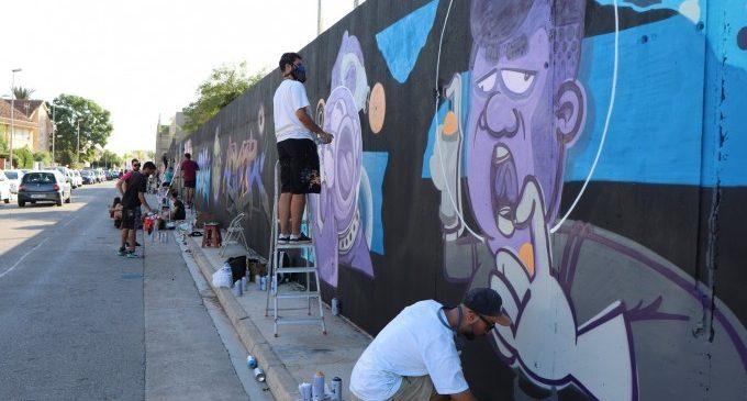 Tres grans murals, el resultat del Festival de Cultura Urbana de Rafelbunyol