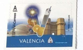 Correus llança un segell dedicat a la província de València amb referències a la cultura, patrimoni i gastronomia