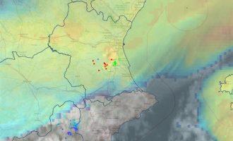 El vent aconsegueix els 71 km/h a València mentre van remetent les pluges en el sud d'Alacant