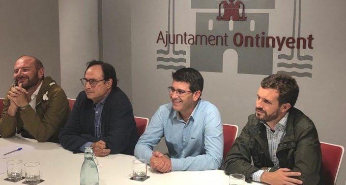Pablo Casado i Vicent Soler visiten Ontinyent per a donar el seu suport en la declaració de zona catastròfica