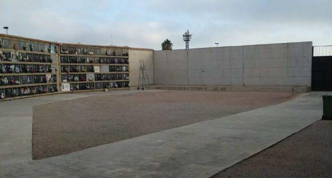 Arrancan las obras de ajardinamiento y creación de sombra en el cementerio de Benimàmet