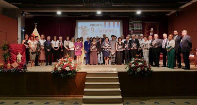 Alboraia celebra el 9 d'Octubre amb el lliurament dels seus premis més destacats