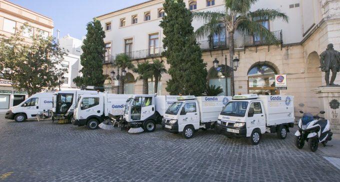 FCC inverteix un milió d'euros per millorar els vehicles de neteja de Gandia