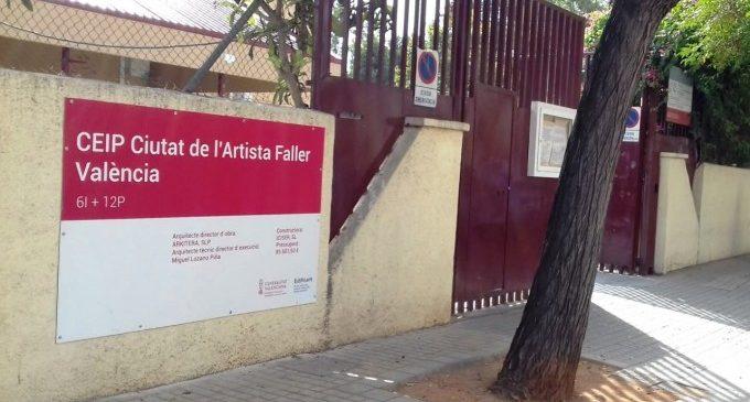 Las obras de mejora en los centros educativos llegan al CEIP Ciudad del Artista Fallero