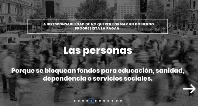 """Compromís llança una web per a fer veure """"qui paga la irresponsabilitat"""" de Sánchez de """"no voler formar govern"""""""