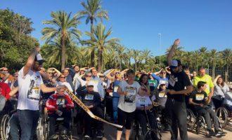 La marxa 0,25k visibilitza a València el dany cerebral adquirit