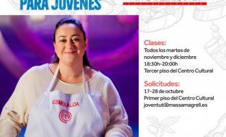 Massamagrell realitzarà un taller de cuina creativa per a joves el 17 d'octubre