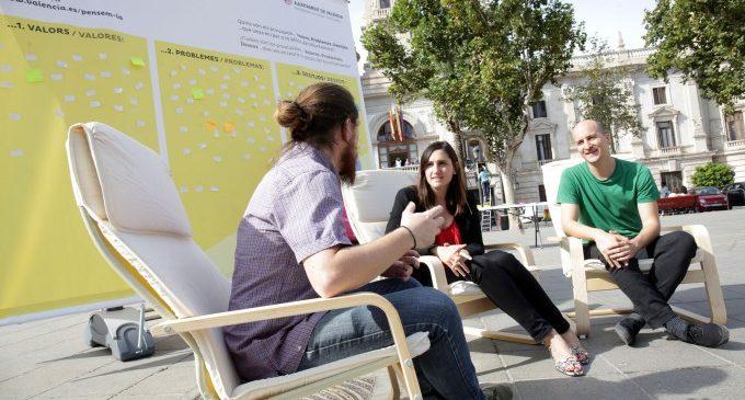 """""""Pensa-la"""", un espacio de reflexión en la plaza del Ayuntamiento"""
