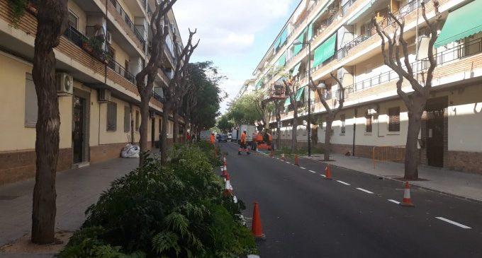 Alfafar realitza millores en la via i els espais públics