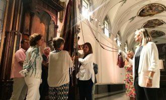 Catalá realitza les proves com a portadora de la Real Senyera