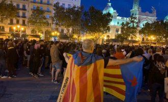 Concentració a València en contra de la sentència del procés