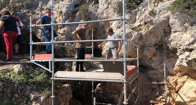 La Cova de l'Hortet de Cullera aportará datos para entender la economía del Paleolítico Superior