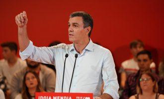 """Sánchez alerta de la """"deriva perillosa"""" de demanar il·legalitzar partits independentistes i estudiarà si impugna"""